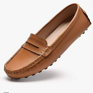 Beauseen Penny Loafers Leather Moccasin 9